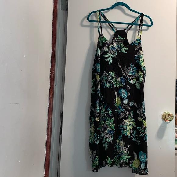 Addition Elle green botanical print dress
